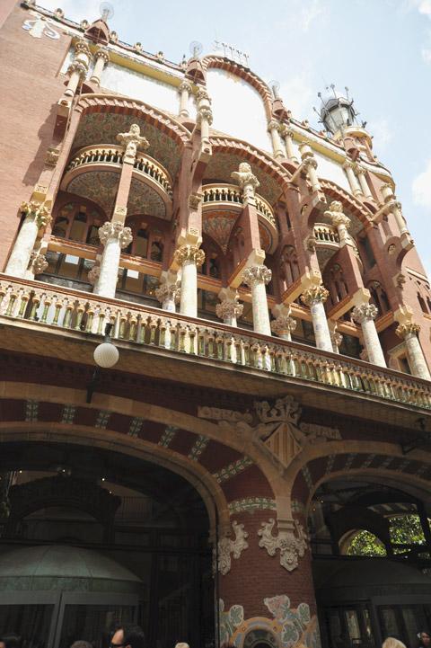 Façade du Palau de la musica catalana