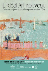 Affiche exposition Art nouveau à Evian